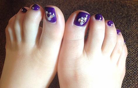 ペディ purple。